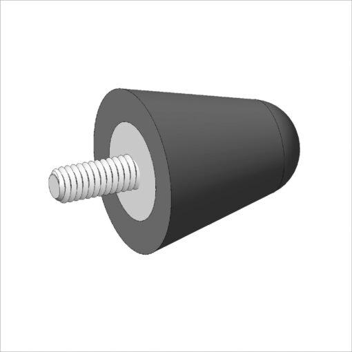 batentes  metalicos usinaveis aço borracha vulcanizados borracha