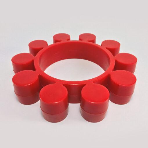 junta juntas vulcanizado poliuretano pu 90 shore vermelho